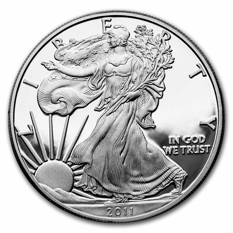 1 oz Proof Silver American Eagle (Random Year, w/Box & COA)